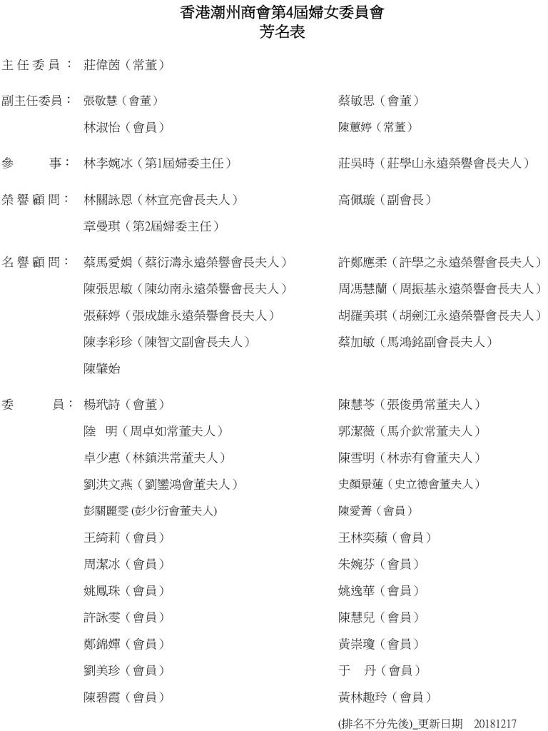 第4屆婦委芳名表