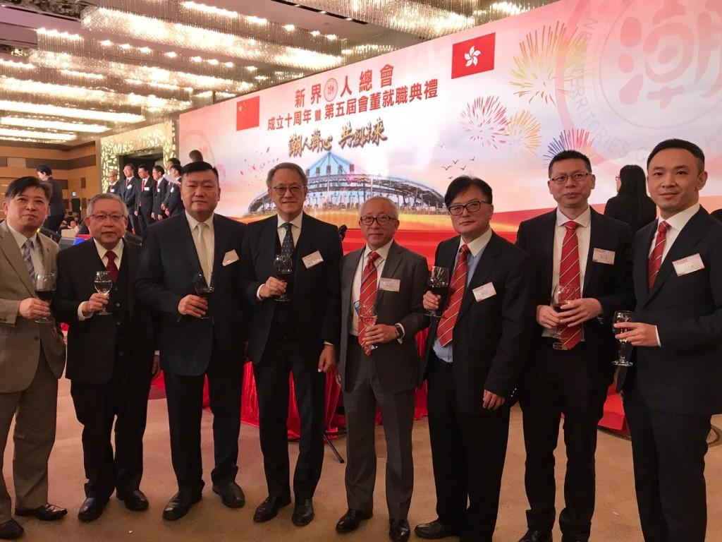 左起:周駿達、周卓如、胡劍江、林宣亮、鄭敬凱、蕭成財、陳才榮、紀英達