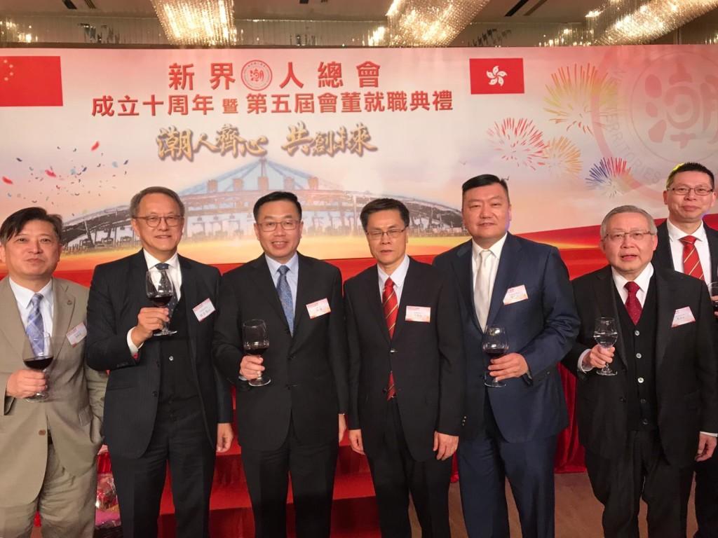 左起:周駿達、林宣亮、何靖、莊健成、胡劍江、周卓如、陳才榮
