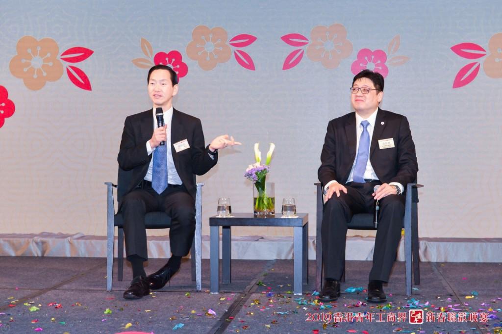 5 本會榮譽顧問兼青委參事陳智思(左)擔任主講嘉賓