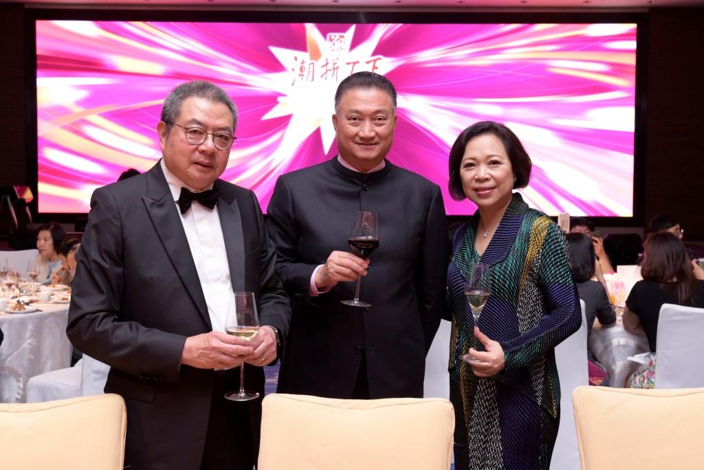 左起:本會永遠榮譽會長陳幼南、榮譽顧問陳振彬、潮拼天下籌委會主席陳愛菁