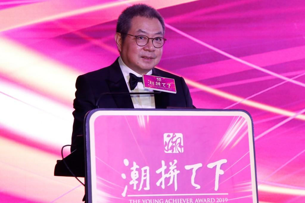 香港潮屬社團總會主席陳幼南致辭