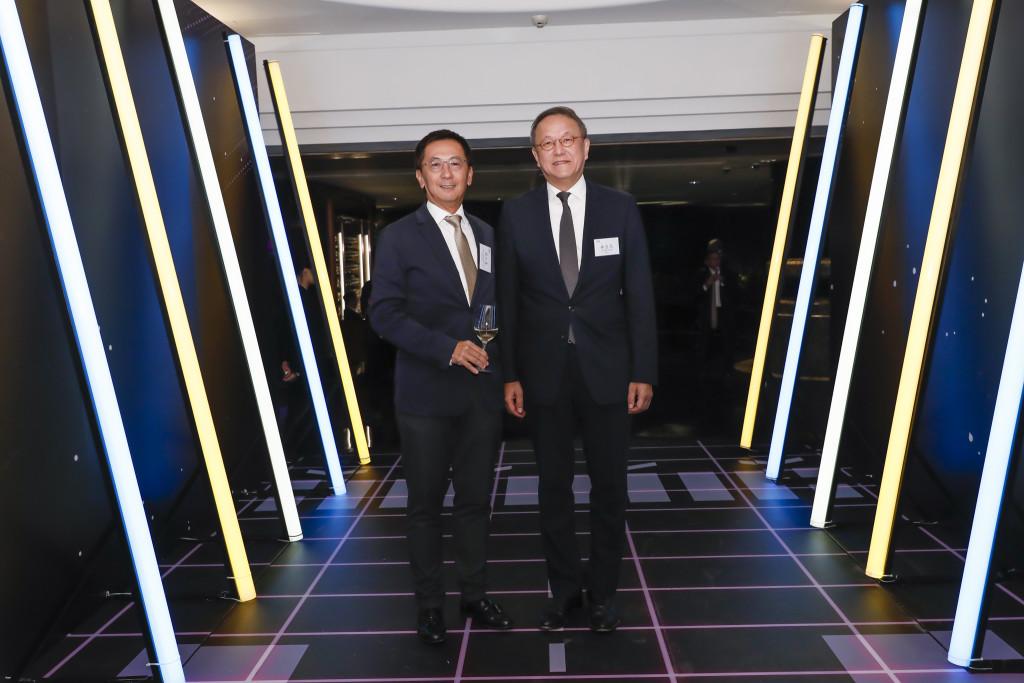本會會長林宣亮(右)出席香港中華廠商聯合會85週年慶典