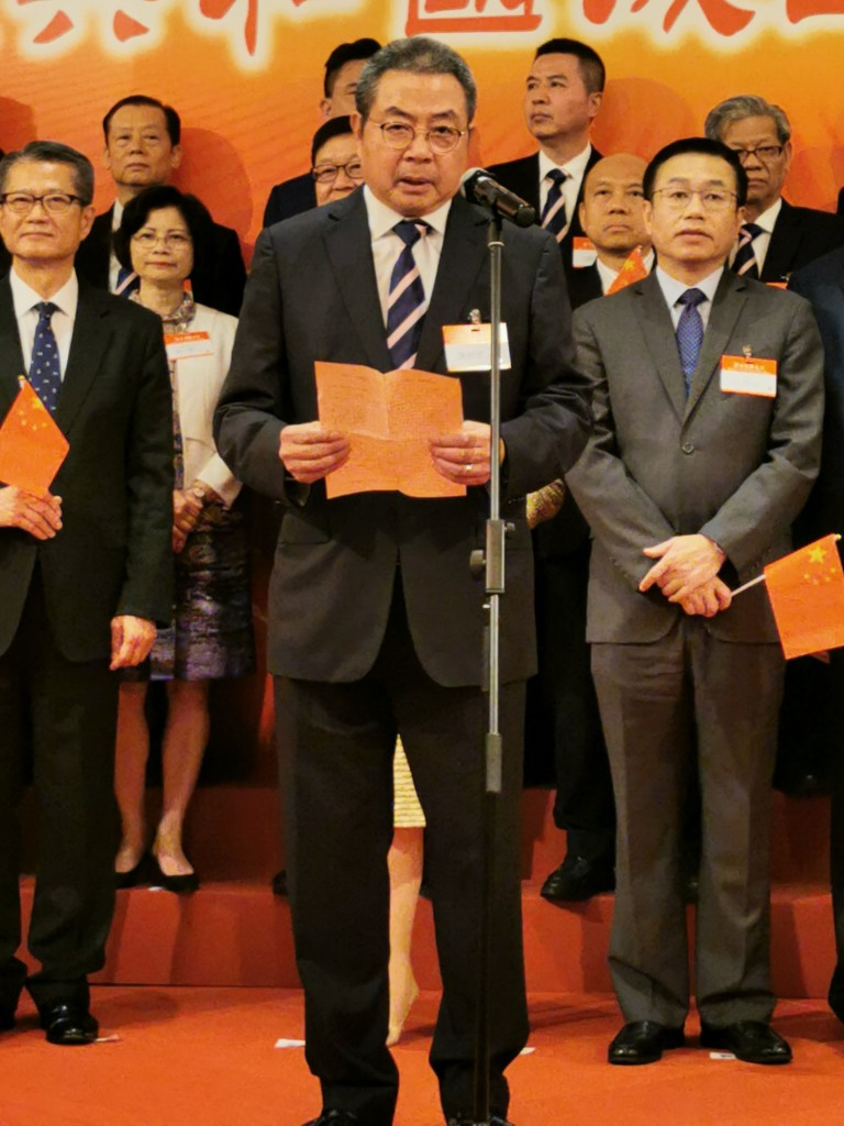 香港潮屬社團總會主席、本會永遠榮譽會長陳幼南致辭s