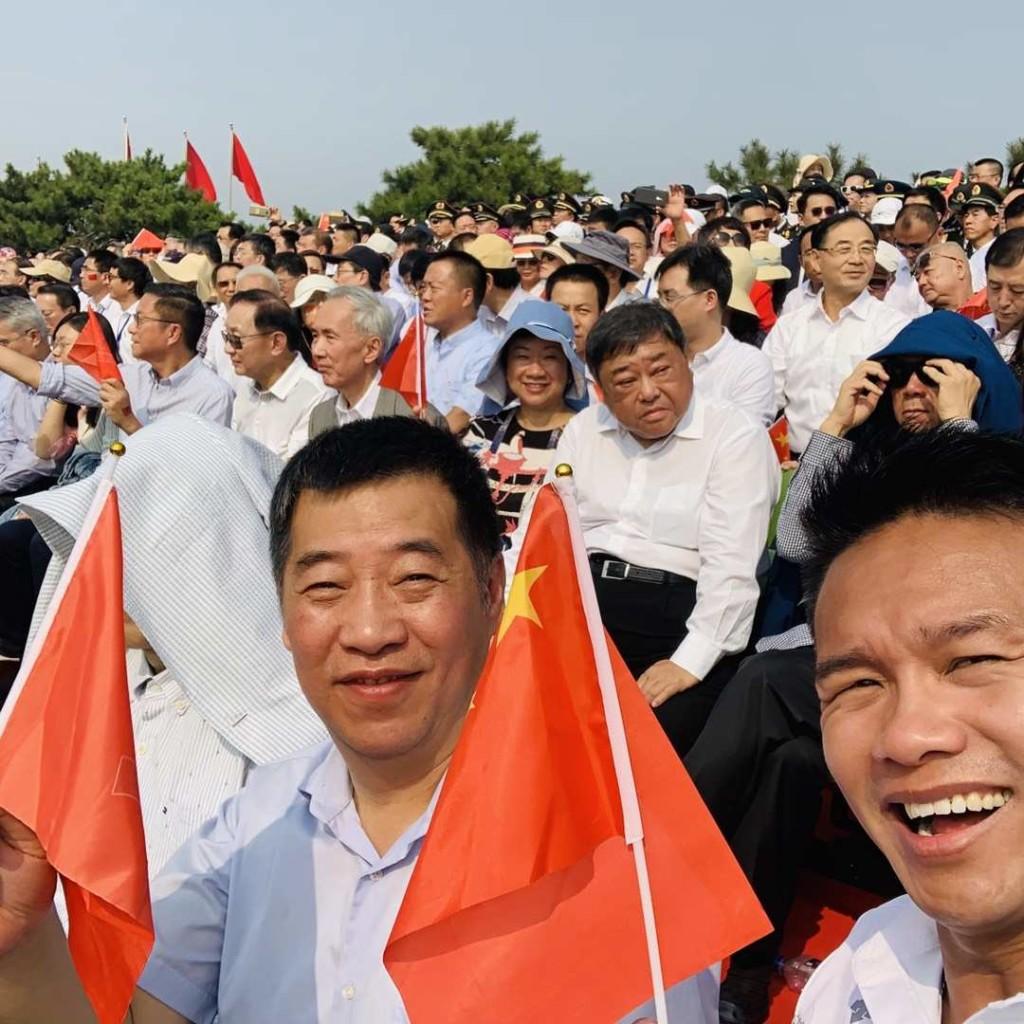 本會榮譽顧問王惠貞(第二排右三)、名譽顧問朱鼎健(前排右)與其他代表一起合照