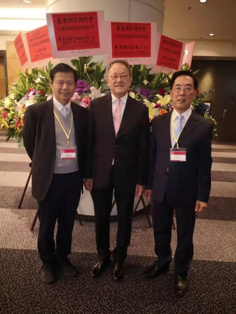 左起:本會會董陳德寧、會長林宣亮、副會長蔡少偉