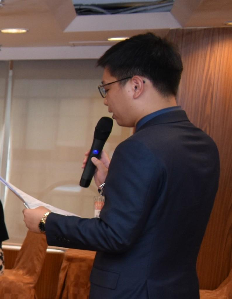 副秘書長詹培勛主持座談會