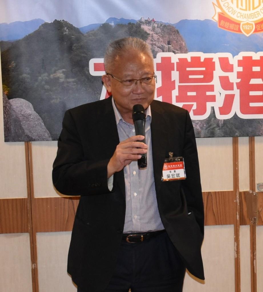 本會會董、香港中華廠商聯合會會長吳宏斌會董過去的一年社會事件及中美磨擦影響到中小企業的生意,加上疫情,更是雪上加霜