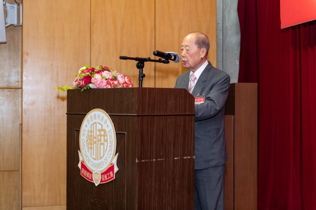 永遠榮譽會長、監事會主席蔡衍濤致訓勉辭